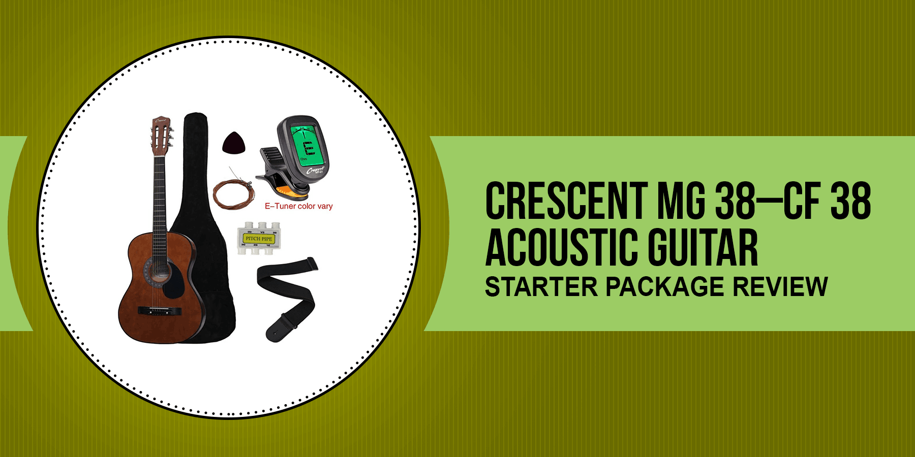 Crescent MG 38 – CF 38 ' Acoustic Guitar Starter Package Review