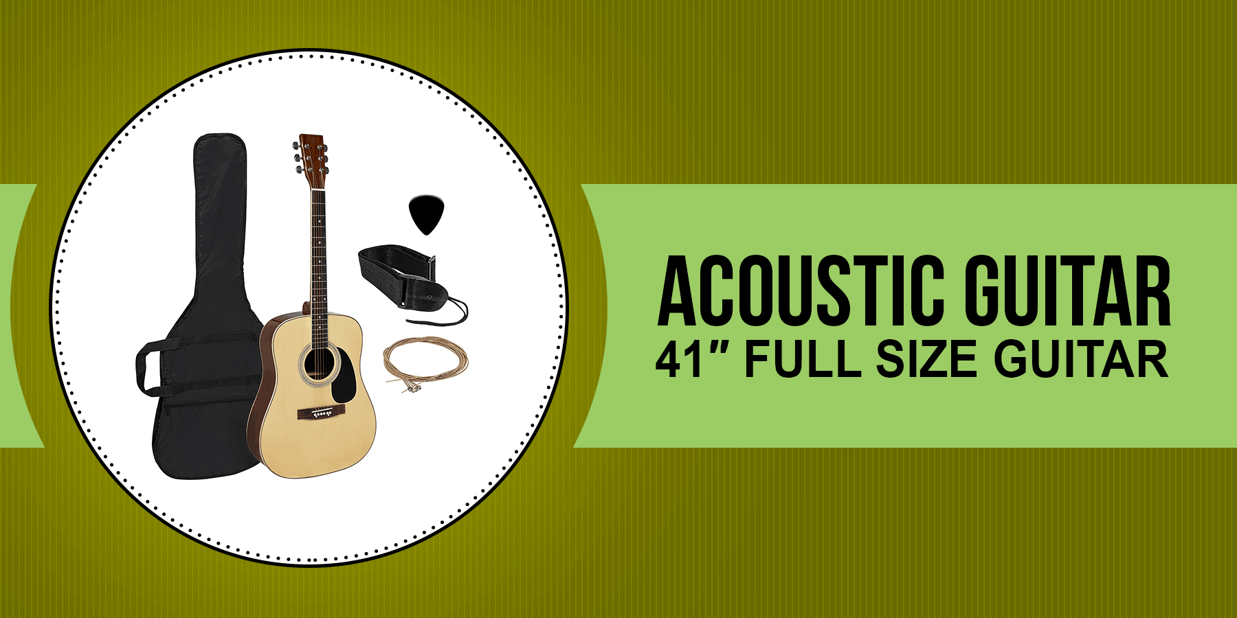Acoustic Guitar 41″ full size Guitar Review