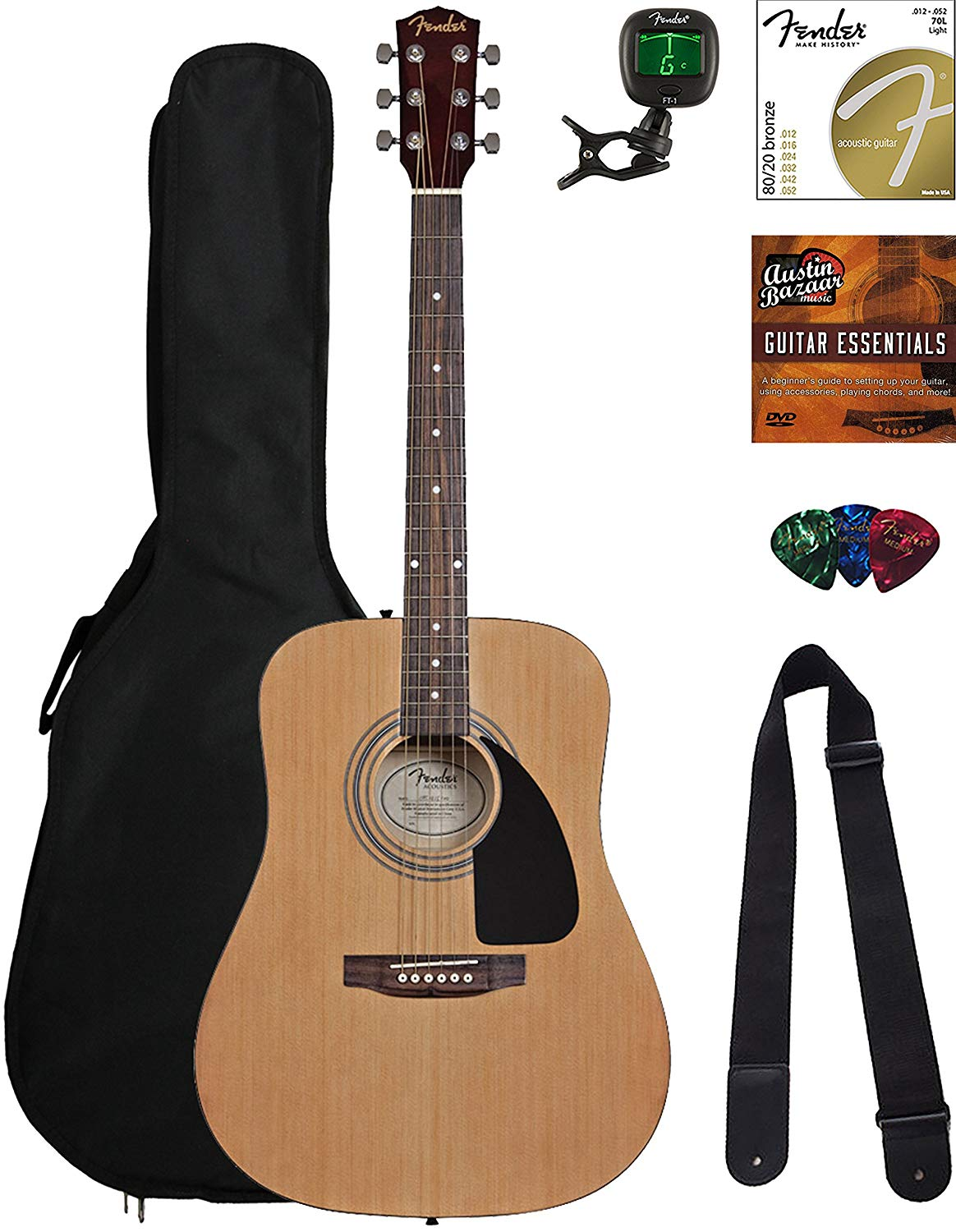Fender Acoustic Guitar Bundle With Gig Bag Review Musicianintro